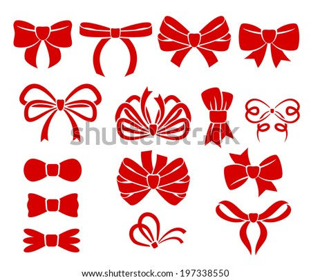 Set of different bows.