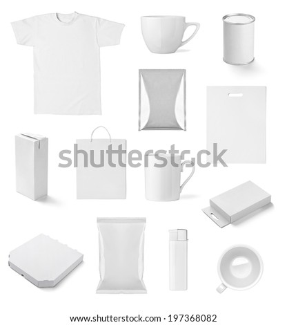 collection of  various white print templates on white background. each one is shot separately #197368082