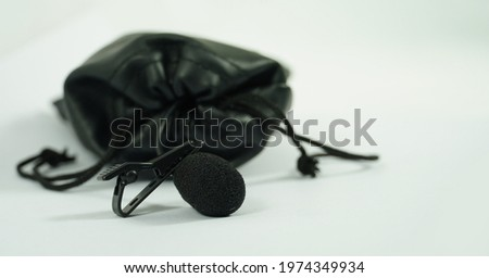 lavalier microphone in a bag mic image in white background