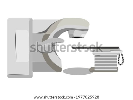 volumetric modulated arc therapy vector illustration Royalty-Free Stock Photo #1977025928