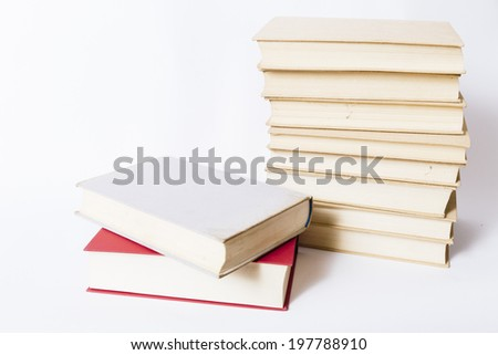 old books on white background #197788910