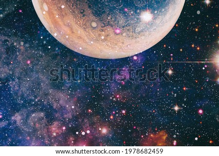 Colorful cosmos with stardust and milky way. Magic color galaxy. Infinite universe and starry night.Elements of this image furnished by NASA Royalty-Free Stock Photo #1978682459