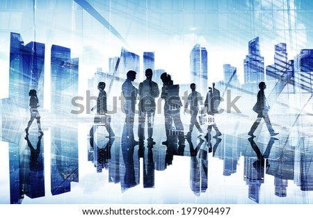 Business People Working and Urban Scene #197904497