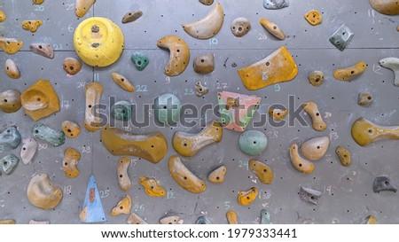 bolder type climbing board for sport rock climbing training.