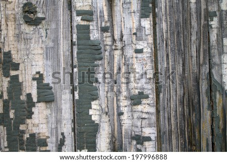 Old wooden fence with paint #197996888