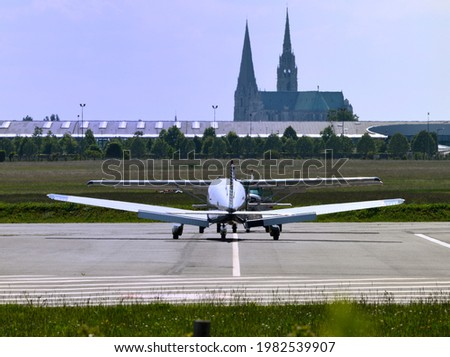 Photo taken on May 30, 2021 in Chartres, Eure et Loir, France. This is the Aerodrome de Chartres, with its planes.