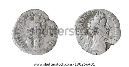 Coin Old silver Roman denarius,161-192, L(usius) AEL(ius) AVREL(ius)COMM(odus) AVG(ustus) P(ius)FEL(ix) P(ontifex)M(aximus)TR(ibunicia) P(otestas) XVII IMP(erator) VIII CO(n)S(ul)VII P(ater) P(atriae) #198256481