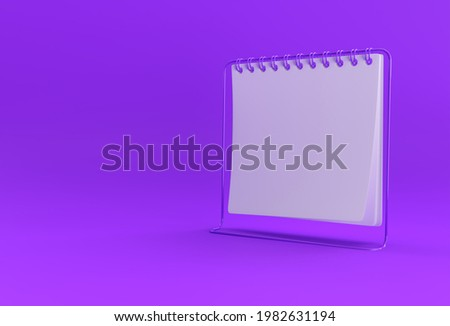 3D Render Notebook mock up with clean blank for design and advertising, 3d illustration perspective view.