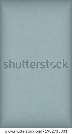 Pale blue colored paper texture. Graceful and refined mobile phone wallpaper with vignetting. Light gray vertical background. Summer backdrop. Textured surface, fibers and irregularities are visible