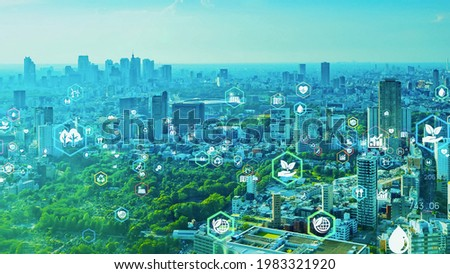 Green technology. Environmental technology concept. Sustainable development goals. SDGs. Royalty-Free Stock Photo #1983321920