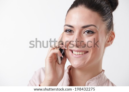 woman with mobile phone #198432275