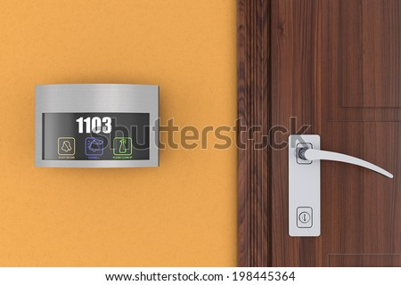 Luxury Hotel Electronic Doorplate Touch Doorbell Switch with Room Number Display #198445364