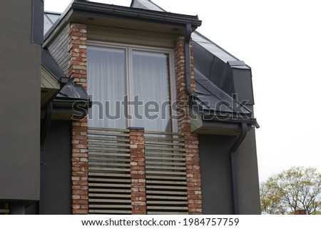 Modern luxury urban apartment building exterior