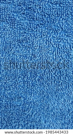 the texture of the blue towel Royalty-Free Stock Photo #1985443433