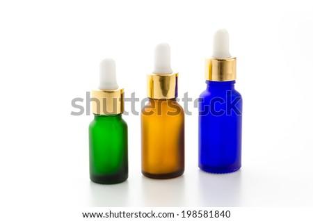 Cosmetics bottles isolated on white #198581840