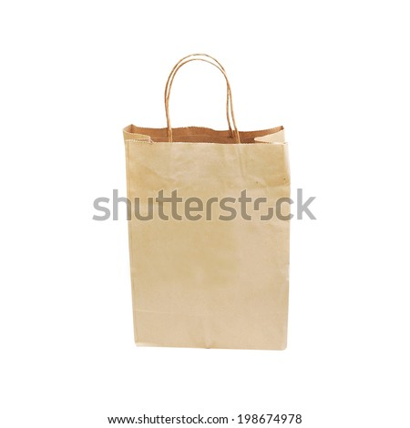 Recycle bag isolated on white background #198674978