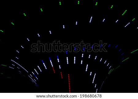 Neon abstract background of lines and bokeh #198680678