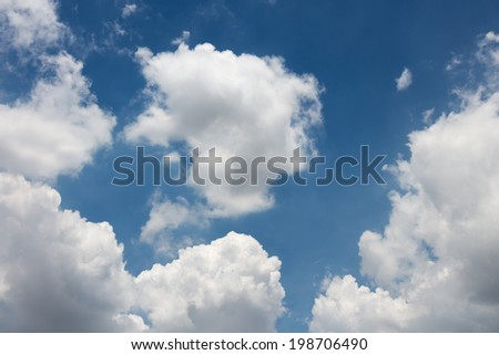 Blue sky background with clouds #198706490