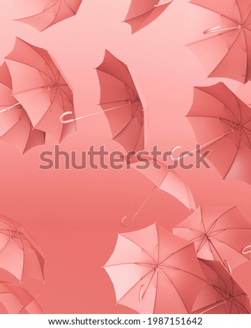 Picture of pink floating umbrellas