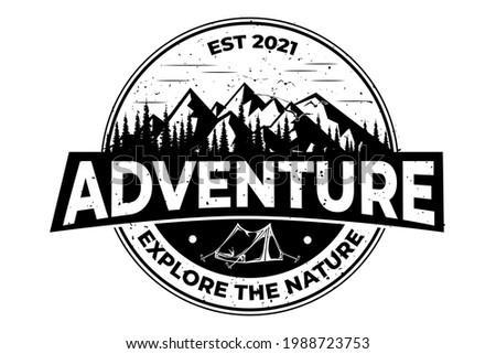T-shirt adventure explore nature vintage Royalty-Free Stock Photo #1988723753