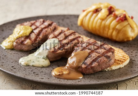 fillet minion with grilled potatoe