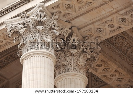 Architecture, old greek temple style #199103234