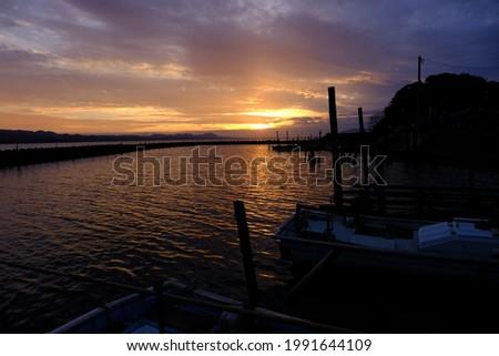 Evening picture at lake shinji, Matsue, Shimane prefecture, Japan