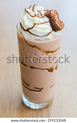 Chocolate smoothies #199233068