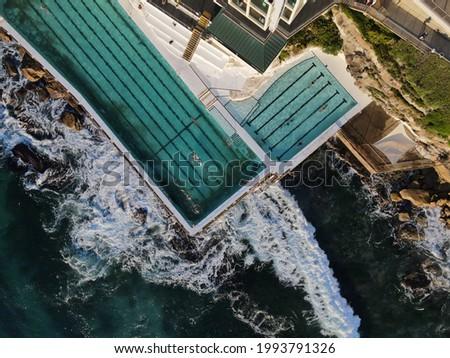 Aerial pic of Bondi Icebergs saltwater swimming pool