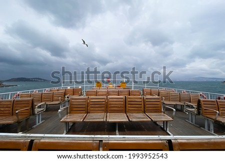 Empty seats on the ferry Royalty-Free Stock Photo #1993952543