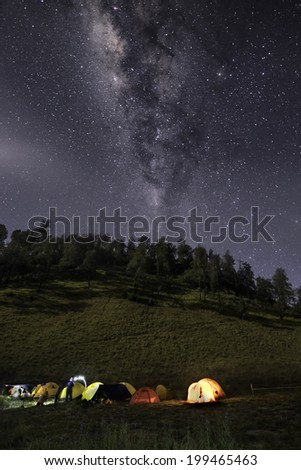 Milky Way at Ranu Kumbolo , National Park Bromo Tengger Semeru #199465463