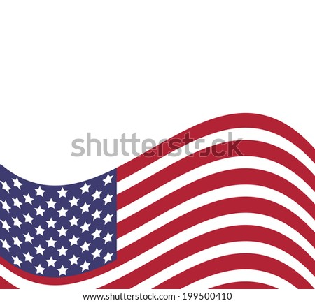 Background with american flag, vector illustration #199500410