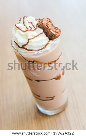 Chocolate smoothies #199624322