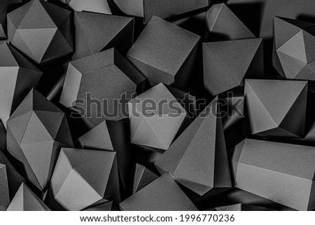 3D black geometric patterned background