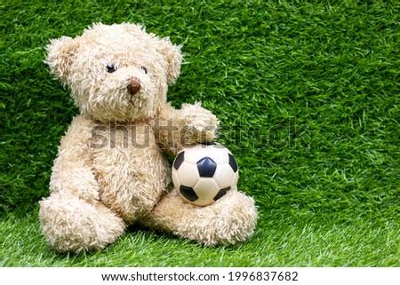 Teddy bear with soccer ball