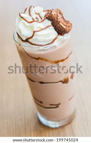 Chocolate smoothies #199745024