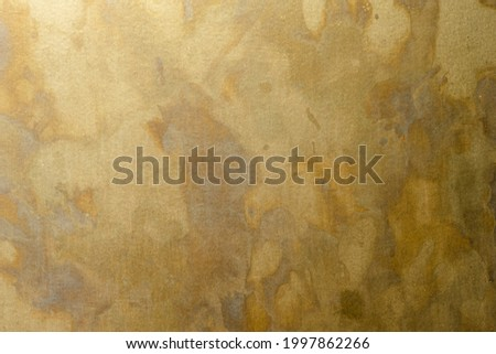 closed up random pattern patina effect on brass plate Royalty-Free Stock Photo #1997862266
