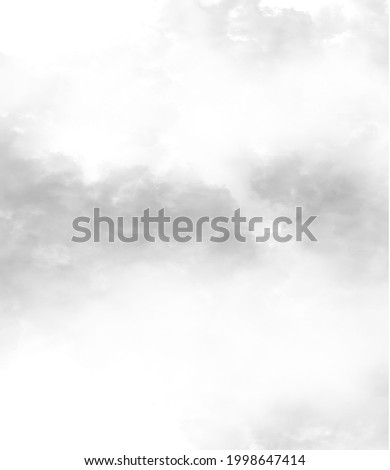 Cloud, fog or smoke isolated on white background. Royalty high-quality free stock photo image of  black cloudiness, clouds, mist or smog background