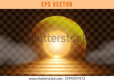 Sun Light Effect EPS Vector Set Orange Colour Sunset Illuminated Royalty-Free Stock Photo #1999297472