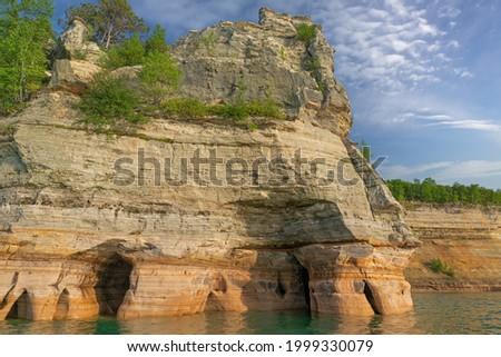 Landscape of Miner's Castle, Pictured Rocks National Lakeshore, Michigan's Upper Peninsula, USA