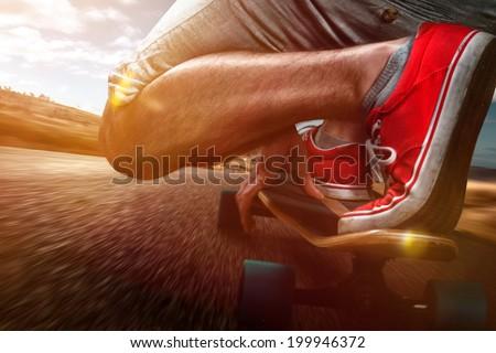 Longboard Riding #199946372