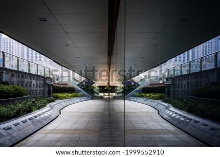 Modern business building in Jiaxing, China