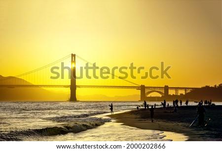 Dawn over the Golden Gate Bridge. Golden Gate bridge at dawn. San Francisco Golden Gate bridge at dawn Royalty-Free Stock Photo #2000202866