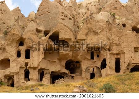 Spectacular view of Zelve Open Air Museum. Spectacular pictures of Zelve historical air museum. Amazing cave house. Nevşehir - Turkey