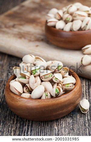 salted and roasted pistachio nuts, roasted pistachios in salt to enhance flavor