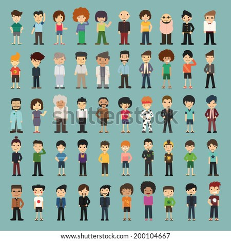 Group cartoon people , eps10 vector format