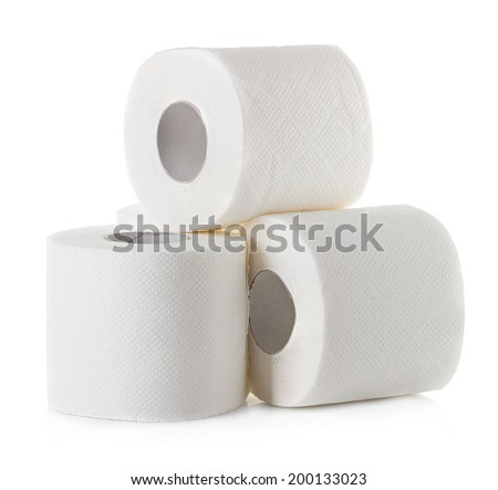 toilet paper close-up isolated on white background #200133023