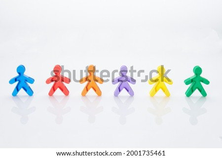 Rainbow, colorfull people concept. High resolution photo for graphic design.