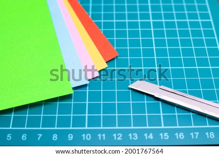 Craft image Origami and stationery craft Royalty-Free Stock Photo #2001767564