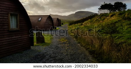 Mystical scenery of cabins at the tip of Scotland. A place to remember and to feel trapped in a nature documentary